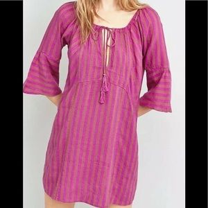 Free People Folk Town Mini Dress Sz Medium M